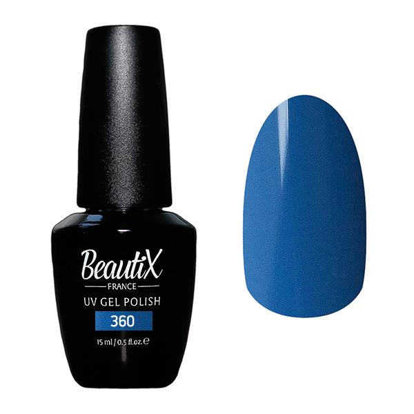 Купить BEAUTIX 360 гель-лак для ногтей 15 мл, Синие
