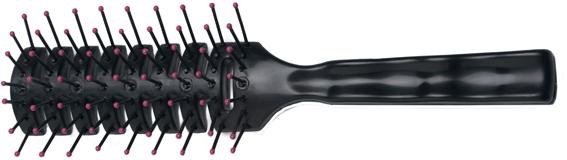DEWAL PROFESSIONAL Щетка рыбья кость, пластиковый штифт, 7 рядов щетка для укладки dewal вогнутая пластиковый штифт 9 рядов 1182806
