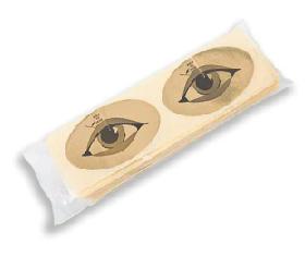 ЧИСТОВЬЕ Наклейки на глаза золото 100пар/упк