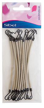 Купить SIBEL Резинки на крючках белые 12 шт