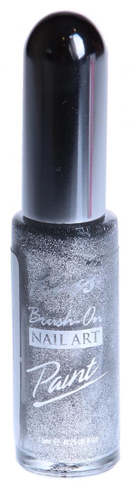 KISS ������ ��� ������� ������ ���������� / Nail Paint Silver 7,5��