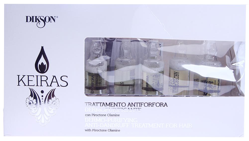 DIKSON Ампульный уход себобалансирующий / TRATTAMENTO ANTIFORFORA DERMOPURIFICANTE KEIRAS 8х10мл