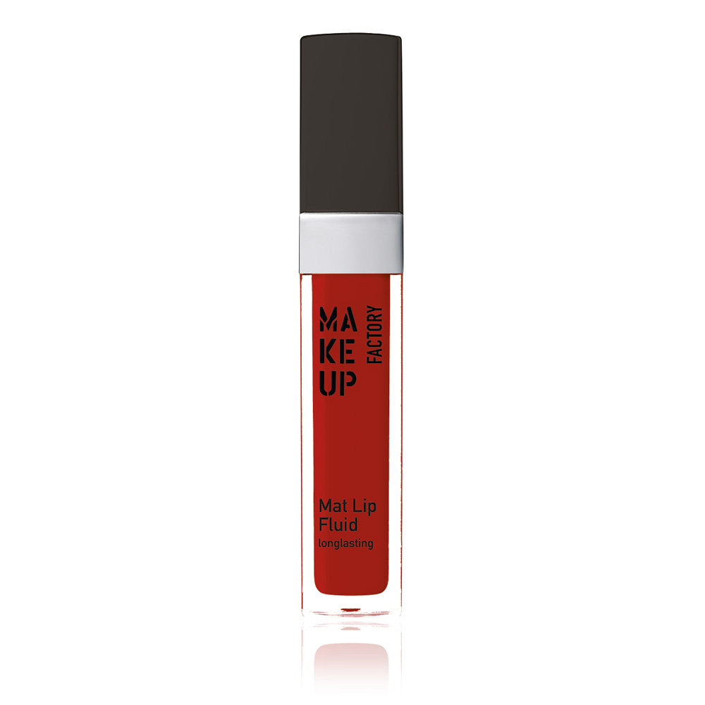 MAKE UP FACTORY Блеск-флюид матовый устойчивый, 38 классический красный / Mat Lip Fluid longlasting 6,5 мл