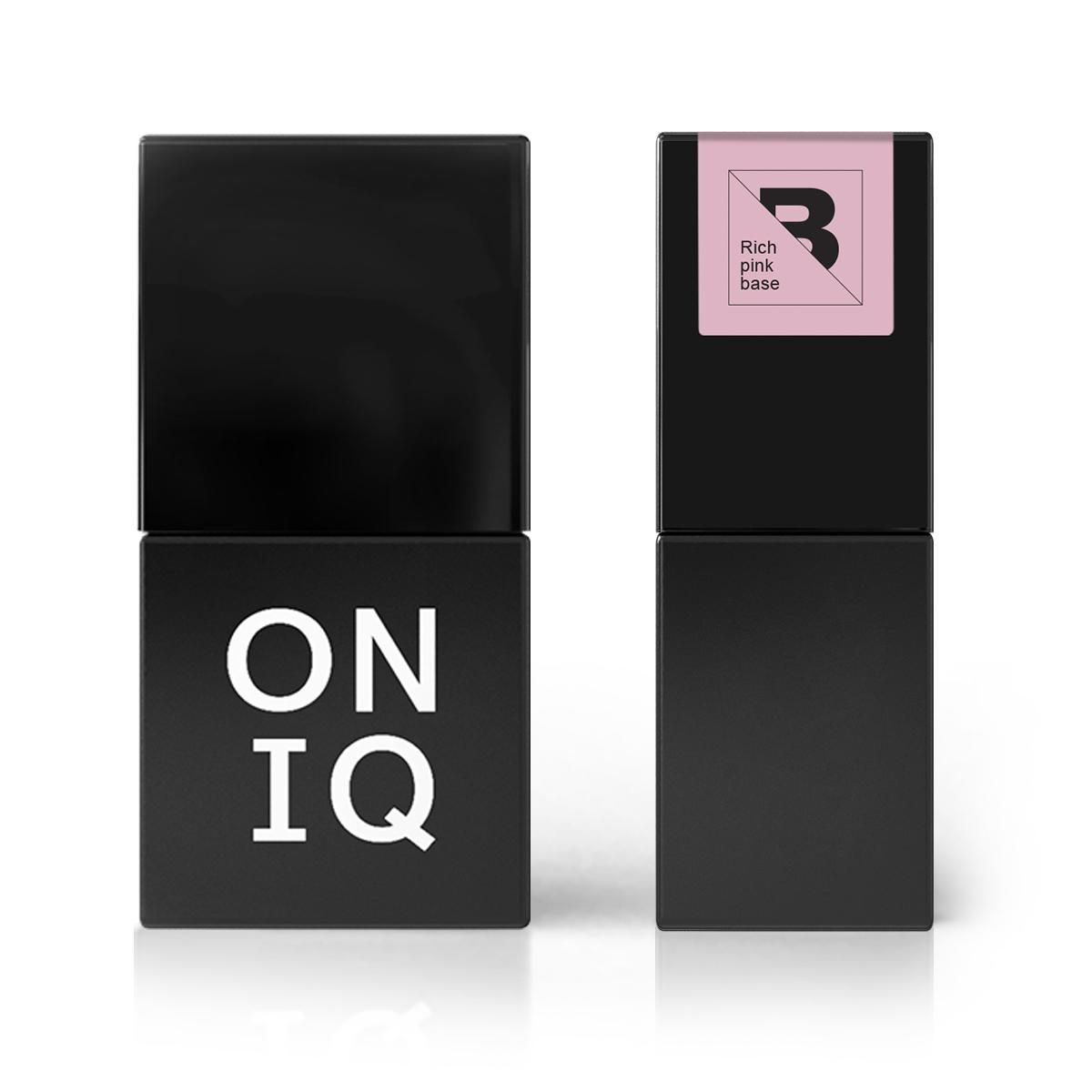 ONIQ Покрытие базовое, насыщенно-розовое полупрозрачное / Rich pink base 10 мл -  Базовые покрытия