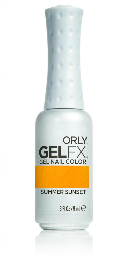 ORLY Гель-лак 873 Summer Sunset / GEL FX 9млГель-лаки<br>Цветные покрытия гель-лака GELFX – это широкая палитра, разнообразие цветов, яркие чистые оттенки. Гель-маникюр GELFX обеспечивает ногтям идеальное покрытие, дополнительное питание и уход. Он просто наносится, легко и безопасно снимается. Состав: Di-HEMA триметилгексил дикарбомат, HEMA, гидроксипропил метакрилат, полиэтилен гликоль 400 диметакрилат, этилацетат, бутилацетат, изопропил, триметилбензоил дифенилфосфин оксид, гидроксициклогексил фенил кетон. Способ применения: нанесите два тонких слоя выбранного цветного покрытия GELFX Nail Lacquer, запечатайте торец и полимеризуете каждый слой в лампе LED 480 FX в течение 30 секунд. Идеальный гель-маникюр возможен только при условии использования всех препаратов и аксессуаров системы GELFX от ORLY.<br><br>Цвет: Желтые<br>Пол: Женский<br>Класс косметики: Универсальная<br>Виды лака: Перламутровые