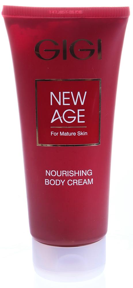 GIGI Крем питательный ароматический для тела / Body Cream NEW AGE 200млКремы<br>Роскошный питательный крем для тела с фитоэстрогенами и маслом ши. Крем предназначен для восстановления упругости кожи после существенного изменения веса, для возрастной кожи подверженной гормональным изменениям, а также для реабилитации кожи после солнечной инсоляции.  Действие: Натуральное масло ши способствует регенерации и восстановлению кожного барьера кожи; увлажняющие комплексы, обеспечивают глубокое увлажнение и лифтинг; фитоэстрогены стимулируют синтез коллагена и процесс обновления клеток кожи. Активные ингредиенты: масло ши, соевый протеин, диметикон, фруктоза, глюкоза, мочевина. Способ применения: Наносить вечером на очищенную кожу рук и тела легкими массажными движениям до полного впитывания.<br><br>Объем: 200<br>Типы кожи: Возрастная