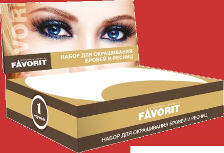 FARMAVITA Набор для окрашивания бровей и ресниц коричневый / FAVORIT
