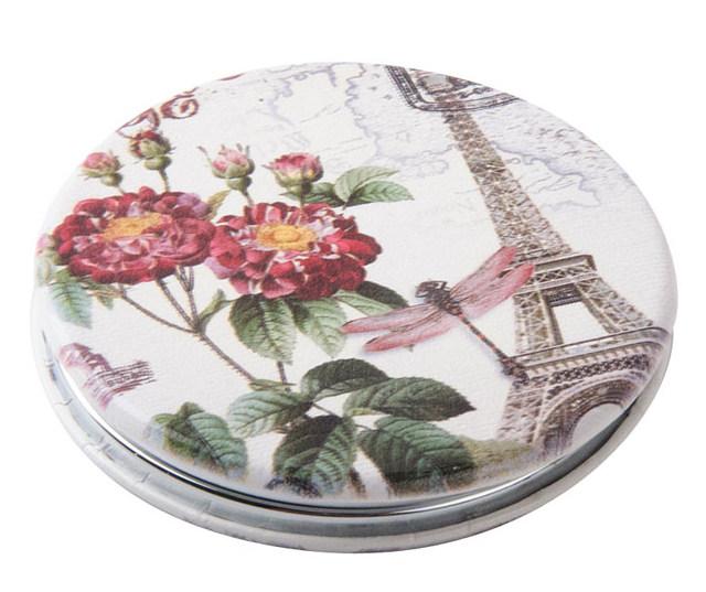DEWAL BEAUTY Зеркало Парижская мода карманное, круглое, d 6 см