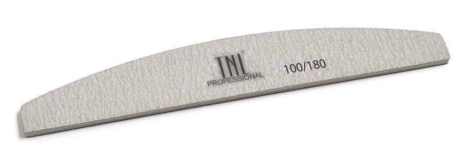 TNL PROFESSIONAL Пилка лодочка для ногтей 100/180, серая (в индивидуальной упаковке)