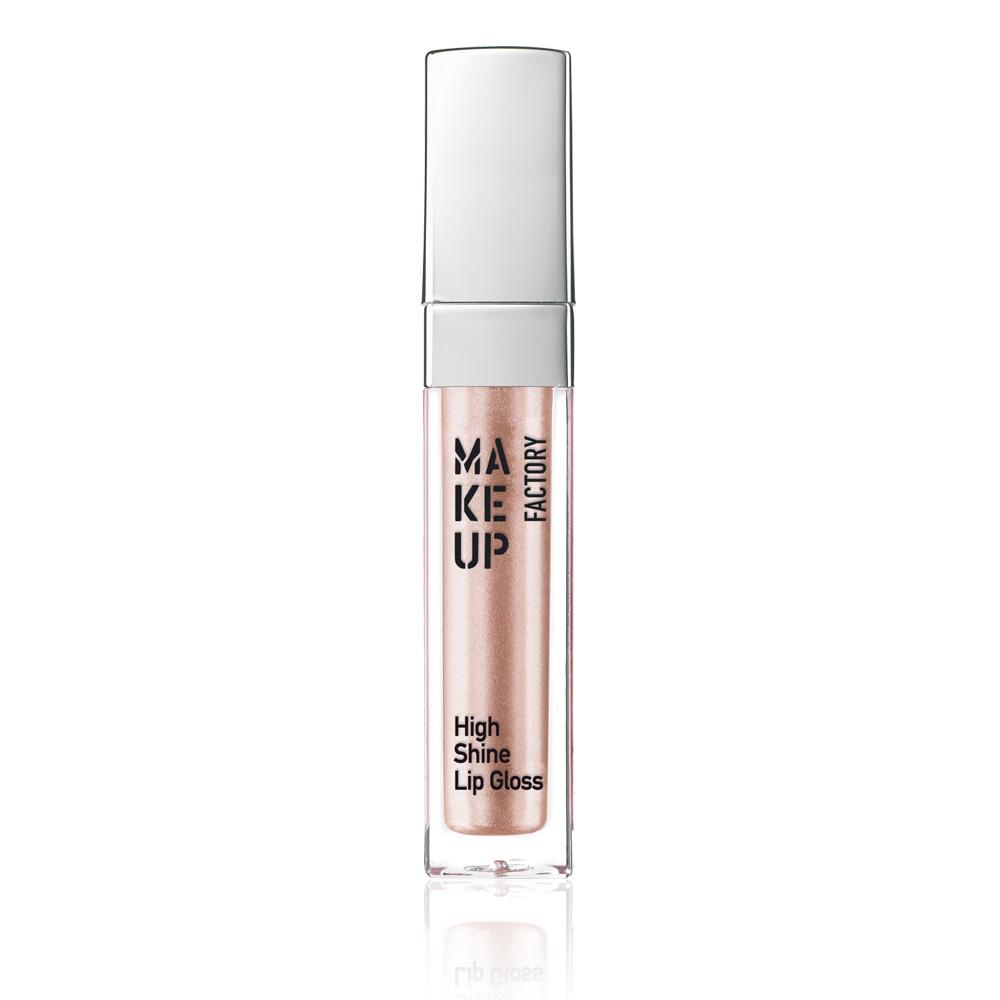 MAKE UP FACTORY Блеск с эффектом влажных губ, 35 румяный абрикос с перламутром / High Shine Lip Gloss 6,5 мл