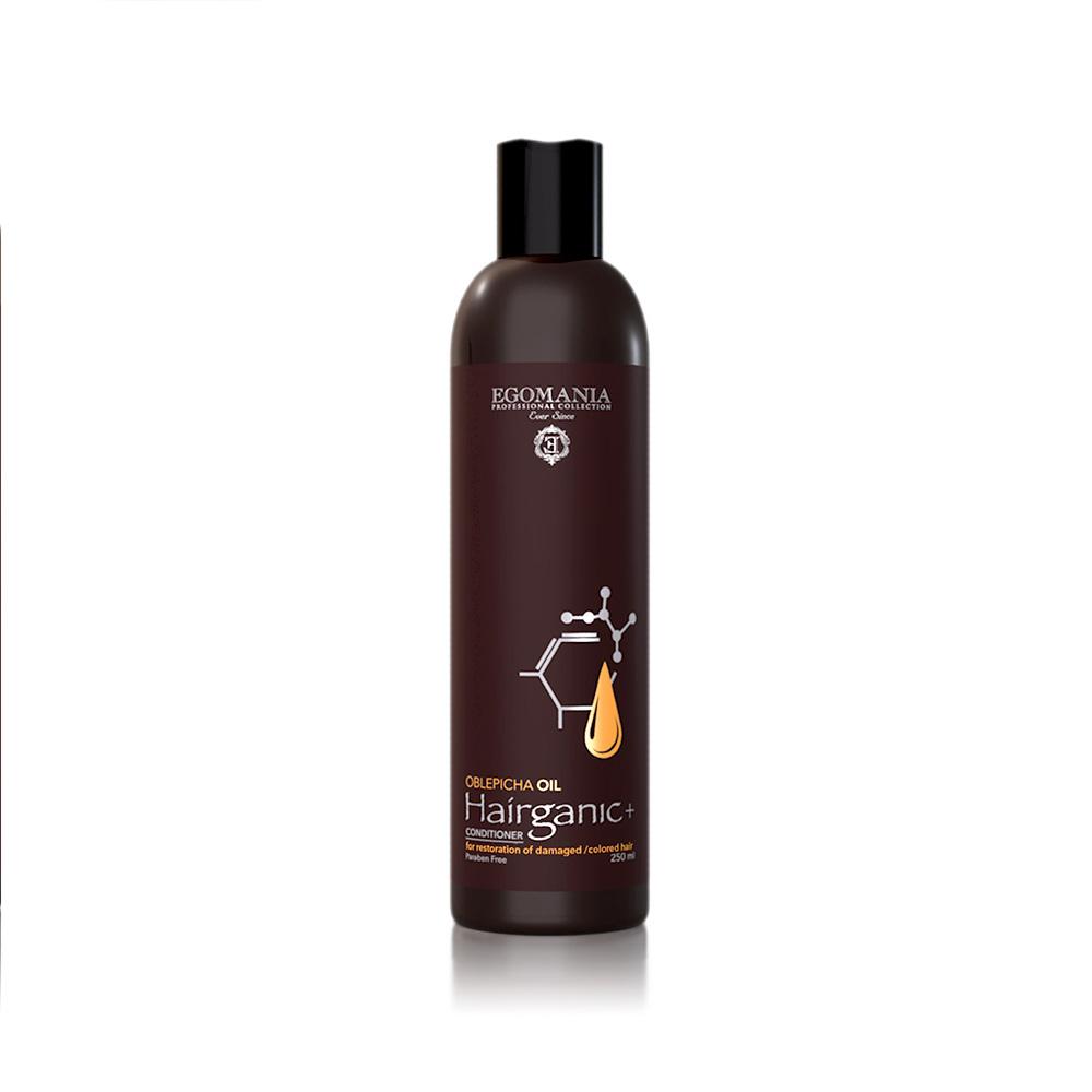 EGOMANIA Кондиционер с маслом облепихи для восстановления повреждённых, окрашенных волос / HAIRGANIC, 250 мл