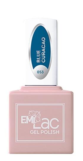 E.MI 053 NEON гель-лак для ногтей, Блю Кюраса / E.MiLac 6 мл