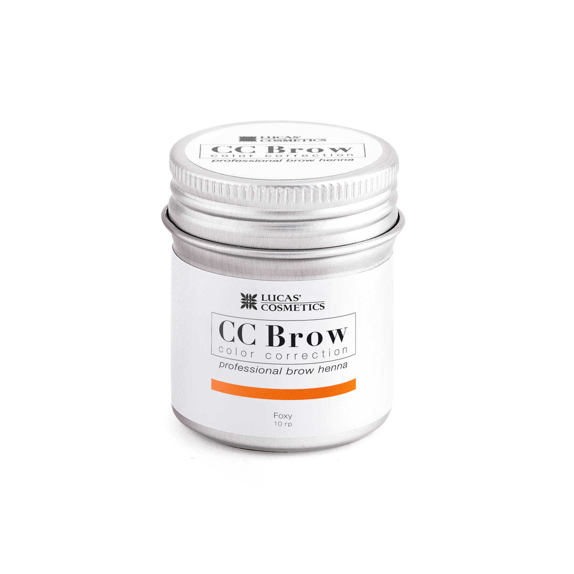 LUCAS' COSMETICS Хна для бровей, рыжий (в баночке) / CC Brow foxy 10 г - Хна для бровей