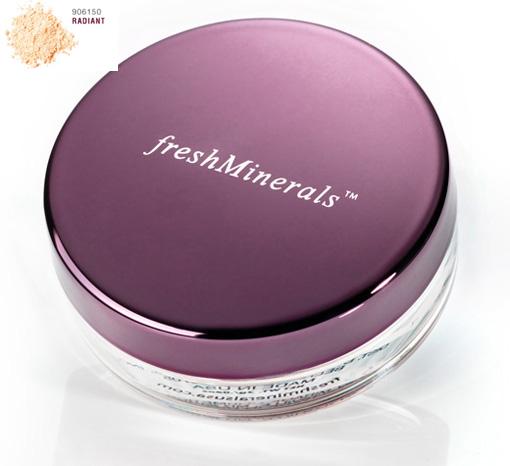 FRESH MINERALS Пудра-основа рассыпчатая с минералами Radiant / Mineral Loose Powder Foundation 11грПудры<br>Минеральная пудра-основа freshMinerals обладает такими преимуществами как: оздоровительный эффект, естественный цвет лица, максимальная стойкость. Она очень удобна в использовании; специальная кисточка позволяет аккуратно наносить пудру на лицо, предотвращая наличие недостатков при нанесении макияжа.  Минеральная пудра отлично матирует кожу, устраняет блеск и придает бархатистость. В состав пудры-основы входят исключительно экологически чистые и натуральные компоненты, а также SPF20.<br>