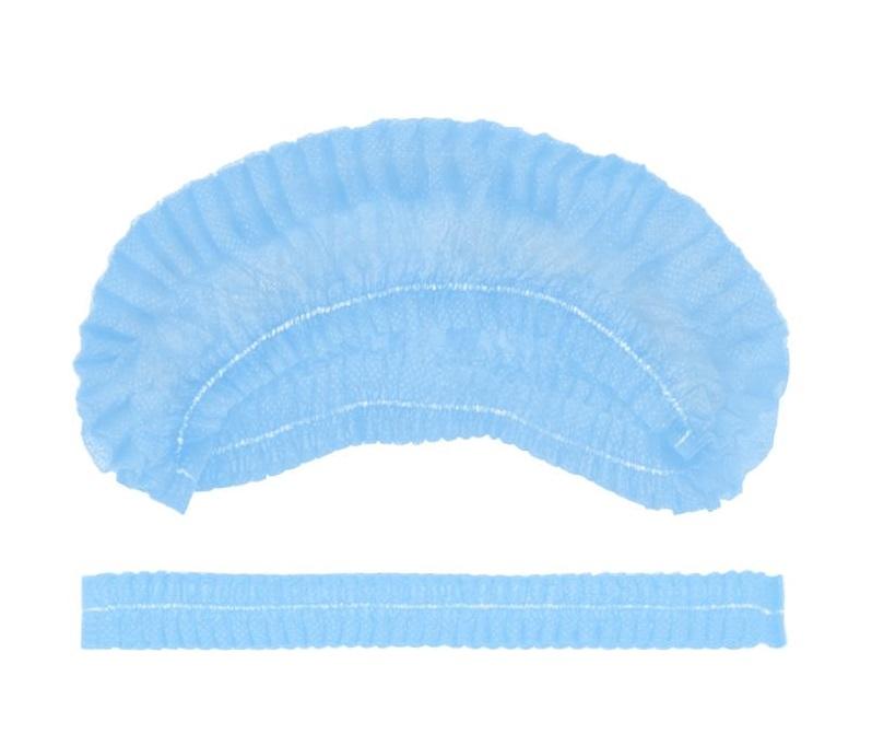 IGROBEAUTY Шапочка Шарлотта НМ, одинарная резинка, цвет голубой 100 шт
