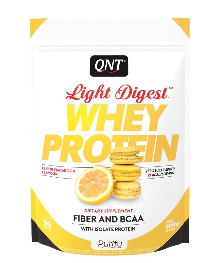 Купить QNT Добавка биологически активная к пище Лайт дайджест вей протеин, лимонно-миндальное печенье / LIGHT DIGEST WHEY PROTEIN Lemon Macaroon 500 г