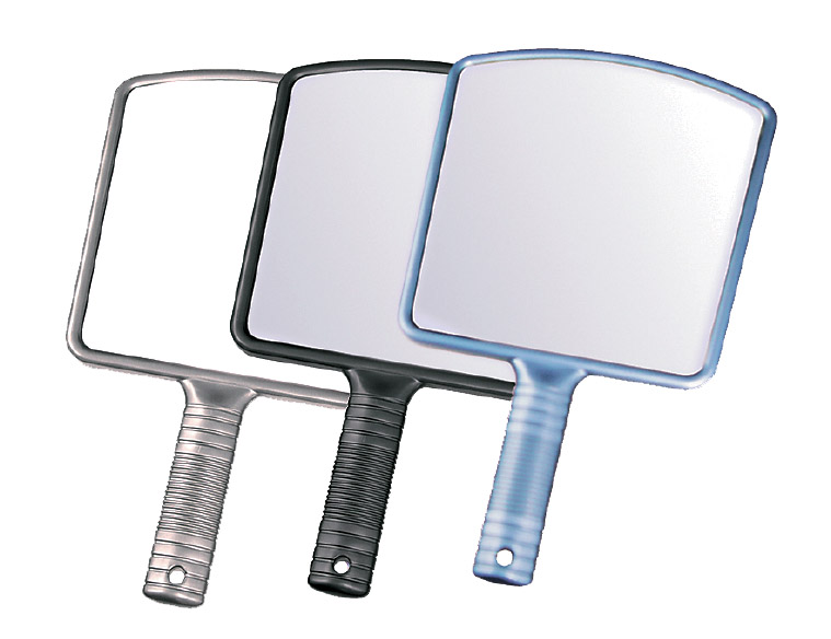 HAIRWAY Зеркало Hairway задн.вида на ручке 223*360мм голубое -  Зеркала