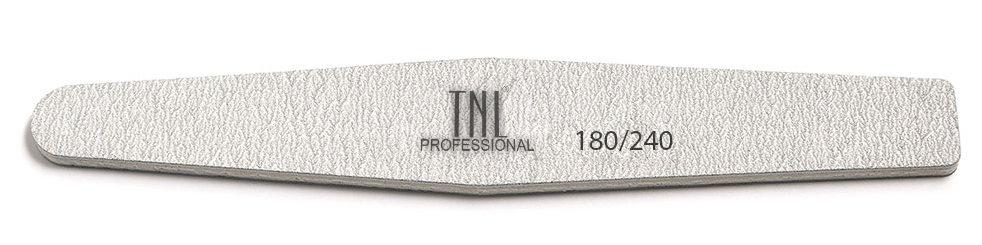 TNL PROFESSIONAL Пилка ромб для ногтей 180/240, серая (в индивидуальной упаковке)