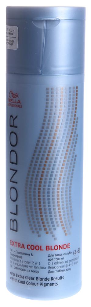 WELLA Порошок для осветления и тонирования / Blondor 150грПудры<br>Tri-Lightening технология содержит антижелтые молекулы для получения чистого результата блондирования. До 7 уровней осветления. Tri-Lightening технология с антижелтыми молекулами для получения чистого результата блондирования. Осветление до 7 ступеней. Многоцелевое применение и различные пропорции смешивания. Рекомендации по смешиванию: Смешивайте с Welloxon Perfect 6%, 9% или 12% или с эмульсией Color Touch 1.9% или 4% в неметаллической емкости. Пропорция смешивания от 1:1,5 до 1:2 (не 1:1) При контакте состава с кожей головы, используйте Welloxon 6% как максимально возможный процент перекиси. Нанесение и время выдержки: Нанесите осветляющую массу на немытые волосы. Время воздействия зависит от состояния волос. Проверяйте результат каждые 5-10 мин. Максимальное время воздействия 50 минут. При первичном окрашивании наносите осветляющую массу от середины длины и на концы, потом на корни. Последующий уход: Смойте блондирующую массу теплой водой и вымойте волосы шампунем. Нанесите стабилизатор цвета и блеска BLONDOR BLONDE SEAL &amp;amp; CARЕ.<br><br>Тип: Порошок<br>Цвет: Блонд<br>Объем: 150<br>Вид средства для волос: Осветляющая