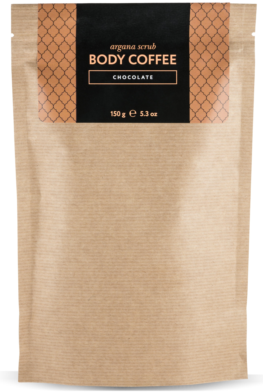 HUILARGAN Скраб аргановый кофейный для тела, шоколад 150 г