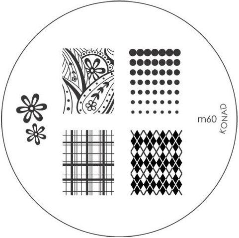 KONAD Форма печатная (диск с рисунками) / image plate M60 10гр декор для маникюра konad печатная форма диск image plate m102