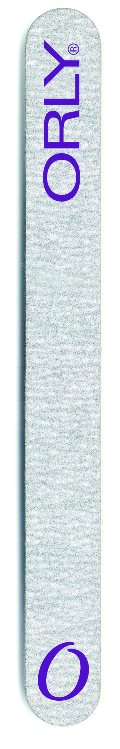 ORLY Двухсторонняя пилка с разной степенью жесткости (100 и 180 ед.) / Zebra Foam Board.Пилки для ногтей<br>Zebra Foam Board   это очень удобная пилка с двумя степенями жесткости для искусственных и крепких натуральных ногтей. Первая сторона с абразивностью в 100 ед. позволит придать форму искусственным ногтям. А вторая сторона с абразивом 180 ед. сделает совершенным свободный край натурального ногтя. Способ применения: 1. Подбирайте пилку по типу ногтей: чем абразивность выше, тем пилка мягче, а значит меньше вероятность повредить ногти. 2. Для натуральных ногтей выбирайте пилку абразивом выше 180ед. 3. Старайтесь, чтобы движения пилки были в одном направлении от края к центру ногтя.<br>