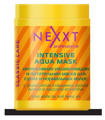 NEXXT professional Маска интенсивная увлажняющая и питатательная, для сухих и нормальных волос / INTENSIVE AQUA 1000мл