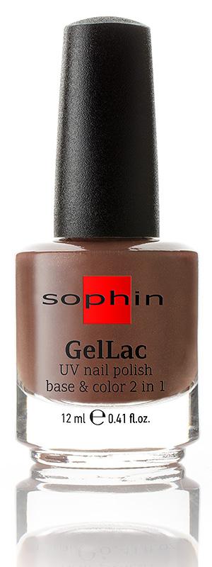 SOPHIN Гель-лак для ногтей УФ 2 в 1 База+цвет без использования УФ лампы, коричневый 12мл