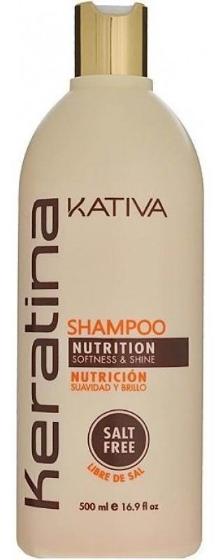 Купить KATIVA Шампунь укрепляющий с кератином для всех типов волос / KERATINA 500 мл