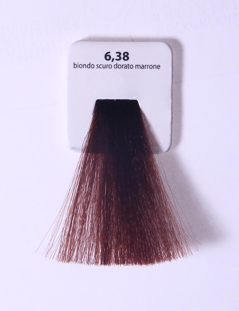 KAARAL 6.38 краска для волос / Sense COLOURS 60млКраски<br>6.38 темный блондин золотисто-коричневый Перманентные красители. Классический перманентный краситель бизнес класса. Обладает высокой покрывающей способностью. Содержит алоэ вера, оказывающее мощное увлажняющее действие, кокосовое масло для дополнительной защиты волос и кожи головы от агрессивного воздействия химических агентов красителя и провитамин В5 для поддержания внутренней структуры волоса. При соблюдении правильной технологии окрашивания гарантировано 100% окрашивание седых волос. Палитра включает 93 классических оттенка. Способ применения: Приготовление: смешивается с окислителем OXI Plus 6, 10, 20, 30 или 40 Vol в пропорции 1:1 (60 г красителя + 60 г окислителя). Суперосветляющие оттенки смешиваются с окислителями OXI Plus 40 Vol в пропорции 1:2. Для тонирования волос краситель используется с окислителем OXI Plus 6Vol в различных пропорциях в зависимости от желаемого результата. Нанесение: провести тест на чувствительность. Для предотвращения окрашивания кожи при работе с темными оттенками перед нанесением красителя обработать краевую линию роста волос защитным кремом Вaco. ПЕРВИЧНОЕ ОКРАШИВАНИЕ Нанести краситель сначала по длине волос и на кончики, отступив 1-2 см от прикорневой части волос, затем нанести состав на прикорневую часть. ВТОРИЧНОЕ ОКРАШИВАНИЕ Нанести состав сначала на прикорневую часть волос. Затем для обновления цвета ранее окрашенных волос нанести безаммиачный краситель Easy Soft. Время выдержки: 35 минут. Корректоры Sense. Используются для коррекции цвета, усиления яркости оттенков, создания новых цветовых нюансов, а также для нейтрализации нежелательных оттенков по законам хроматического круга. Содержат аммиак и могут использоваться самостоятельно. Оттенки: T-AG - серебристо-серый, T-M - фиолетовый, T-B - синий, T-RO - красный, T-D - золотистый, 0.00 - нейтральный. Способ применения: для усиления или коррекции цвета волос от 2 до 6 уровней цвета корректоры добавляются в краситель п