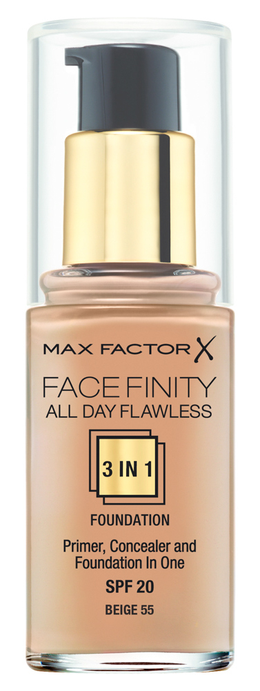 Купить MAX FACTOR Основа тональная 55 / Facefinity All Day Flawless 3-in-1 beige