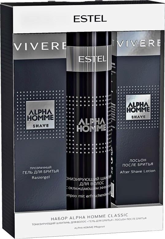 ESTEL PROFESSIONAL Набор (Гель д/бритья+шампунь+лосьон после бритья) / Classic Alpha Homme