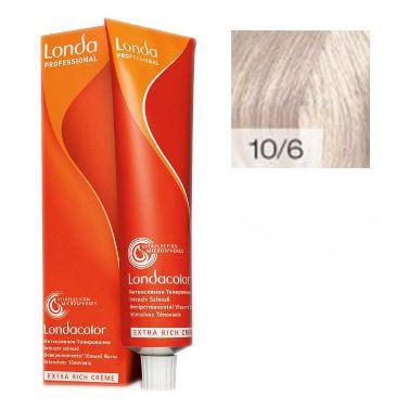 LONDA PROFESSIONAL 10/6 Краска для волос LC NEW инт.тонирование яркий блонд фиолетовый, 60мл
