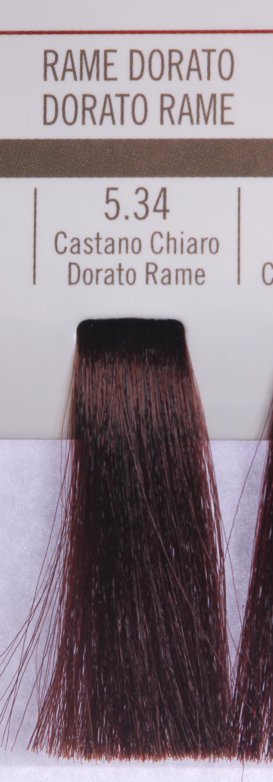 BAREX 5.34 краска для волос / PERMESSE 100млКраски<br>Оттенок: Светлый каштан золотисто-медный. Профессиональная крем-краска Permesse отличается низким содержанием аммиака - от 1 до 1,5%. Обеспечивает блестящий и натуральный косметический цвет, 100% покрытие седых волос, идеальное осветление, стойкость и насыщенность цвета до следующего окрашивания. Комплекс сертифицированных органических пептидов M4, входящих в состав, действует с момента нанесения, увлажняя волосы, придавая им прочность и защиту. Пептиды избирательно оседают в самых поврежденных участках волоса, восстанавливая и защищая их. Масло карите оказывает смягчающее и успокаивающее действие. Комплекс пептидов и масло карите стимулируют проникновение пигментов вглубь структуры волоса, придавая им здоровый вид, блеск и долговечность косметическому цвету. Активные ингредиенты:&amp;nbsp;Сертифицированные органические пептиды М4 - пептиды овса, бразильского ореха, сои и пшеницы, объединенные в полифункциональный комплекс, придающий прочность окрашенным волосам, увлажняющий и защищающий их. Сертифицированное органическое масло карите (масло ши) - богато жирными кислотами, экстрагируется из ореха африканского дерева карите. Оказывает смягчающий и целебный эффект на кожу и волосы, широко применяется в косметической индустрии. Масло карите защищает волосы от неблагоприятного воздействия внешней среды, интенсивно увлажняет кожу и волосы, т.к. обладает высокой степенью абсорбции, не забивает поры. Способ применения:&amp;nbsp;Крем-краска готовится в смеси с Молочком-оксигентом Permesse 10/20/30/40 объемов в соотношении 1:1 (например, 50 мл крем-краски + 50 мл молочка-оксигента). Молочко-оксигент работает в сочетании с крем-краской и гарантирует идеальное проявление краски. Тюбик крем-краски Permesse содержит 100 мл продукта, количество, достаточное для 2 полных нанесений. Всегда надевайте подходящие специальные перчатки перед подготовкой и нанесением краски. Подготавливайте смесь крем-краски и молочка-оксигента Permes
