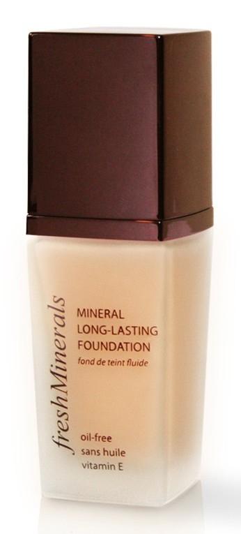 FRESH MINERALS Основа под макияж стойкая тональная Petal / Mineral Long Lasting Foundation 30млТональные основы<br>Тональная основа под макияж freshMinerals взаимодействует с кожей и тем самым создает максимально естественный оттенок здоровой и красивой кожи. Легко наносится и распределяется по поверхности кожи, которая становится гладкой и бархатистой. Основа оказывает положительное воздействие на кожу лица и защищает от негативных внешних факторов. Тональный крем freshMinerals содержит минералы, витамин Е. Способ применения: нанести небольшими мазками на щеки, лоб и подбородок, растушевать круговыми движениями от центра к периферии при помощи подушечек пальцев, кисти или спонжа.<br>