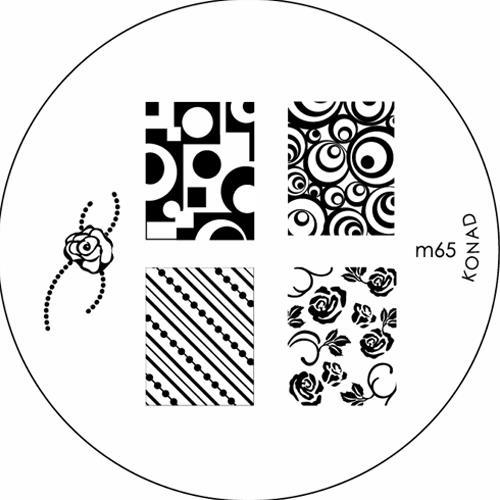 KONAD Форма печатная (диск с рисунками) / image plate M65 10гр декор для маникюра konad печатная форма диск image plate m102