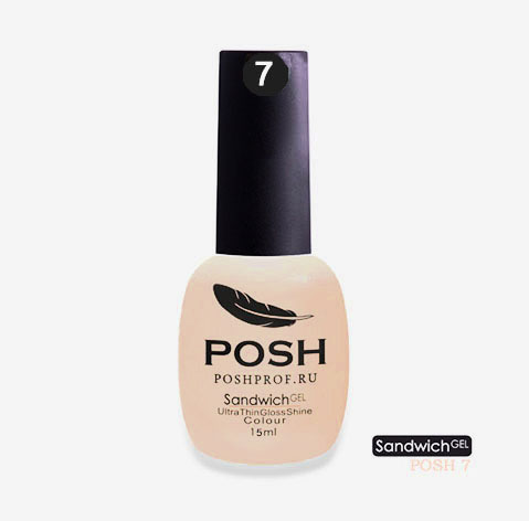 POSH 07 гель-лак на 25 дней Дыхание весны / SENDVICH GEL UV/LED 15 мл