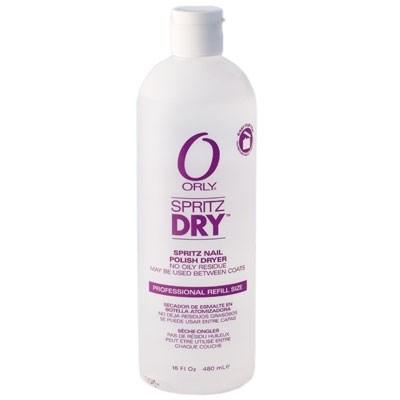 ORLY Сушка-спрей / Spritz Dry 480млСушки<br>Жидкая сушка в виде спрея быстро высушивает лак. Она проста и удобна в применении. Испаряясь с поверхности ногтевой пластины, сушка-спрей ускоряет процесс высушивания лака для ногтей и облегчает процедуру нанесения нового слоя лака или рисунка. Состав: SDA-40B, ацетон, бутилстеарат, кунжутное масло, масло жожоба, токоферил ацетат, масло авокадо, кумарин, отдушка. Способ применения: распылите средство на расстоянии 10-15 сантиметров от ногтей, покрытых лаком. Spritz DRY от ORLY идеально подходит для послойного высушивания лака при выполнении дизайна. Применяйте препарат с любым базовым покрытием от ORLY Bonder, Ridgefiller или Top2bottom или верхним покрытием Glosser, Magnifique, Matte top, Polishield, Wont chip.<br><br>Пол: Женский<br>Класс косметики: Универсальная