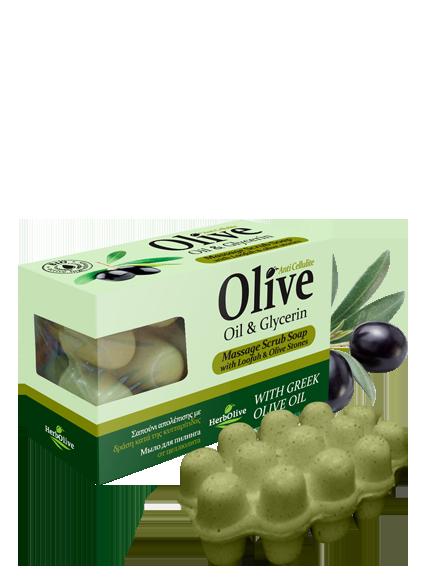 MADIS Мыло массажное с глицерином для пилинга против целлюлита / HerbOlive 100 г