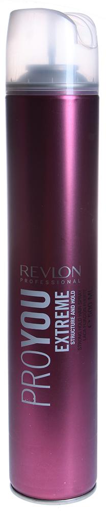 REVLON Лак сильной фиксации для волос / PROYOU EXTREME 500млЛаки<br>Лак для волос Proyou Extreme сильной фиксации поможет вам создать индивидуальный стиль и максимально зафиксировать прическу на длительное время. Лак от Revlon устойчив к влаге и загрязнению волос. Быстро высыхая на волосах, не создаёт слипшихся волос и легко удаляется при расчесывании.  Способ применения: Наносится на сухие волосы на расстоянии 30 см.<br><br>Типы волос: Сухие