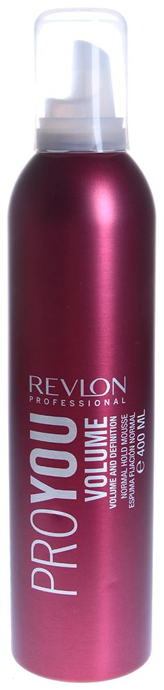 REVLON Мусс нормальной фиксации для объема / PROYOU VOLUME 400млМуссы<br>Мусс Proyou Volume нормальной фиксации позволит создавать стойкие и гибкие укладки, отличающиеся воздушным и легким объемом. Он не только помогает вам создавать привлекательные прически, но и защищает волосы от влажности и повреждений при укладке. Средство содержит аминокислоты пшеницы, придающие волосам мягкость. Может наноситься как на сухие, так и на влажные волосы.  Активные ингредиенты: Аминокислоты пшеницы.  Способ применения: Выдавите немного мусса на ладонь, распределите по волосам, сформируйте прическу и уложите с помощью фена.<br><br>Типы волос: Сухие