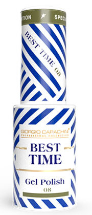 GIORGIO CAPACHINI 08 гель-лак трехфазный для ногтей / BEST TIME 8 мл.