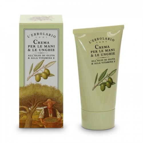 LERBOLARIO Крем для рук и ногтей с оливковым маслом и витамином Е 75 мл