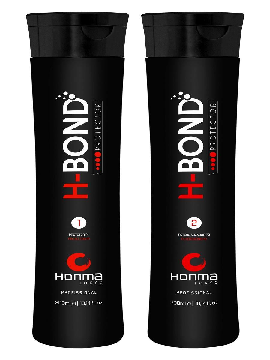 HONMA TOKYO Набор для защиты волос во время химических поцедур (протектор 2 х 300 мл) H-Bond Protector