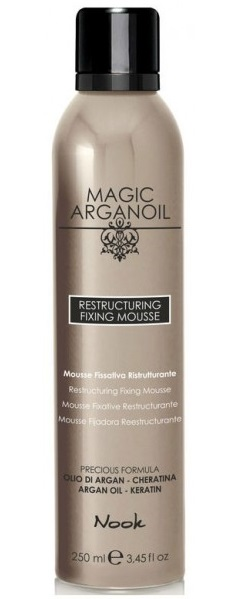 NOOK Мусс восстанавливающий средней фиксации для укладки волос / MAGIC ARGANOIL 250 мл