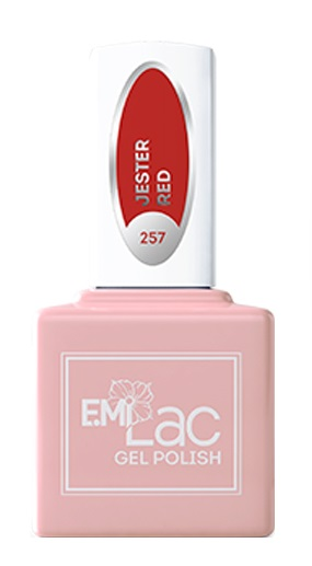 Купить E.MI 257 GL гель-лак для ногтей, Красный джокер / E.MiLac 6 мл, Красные