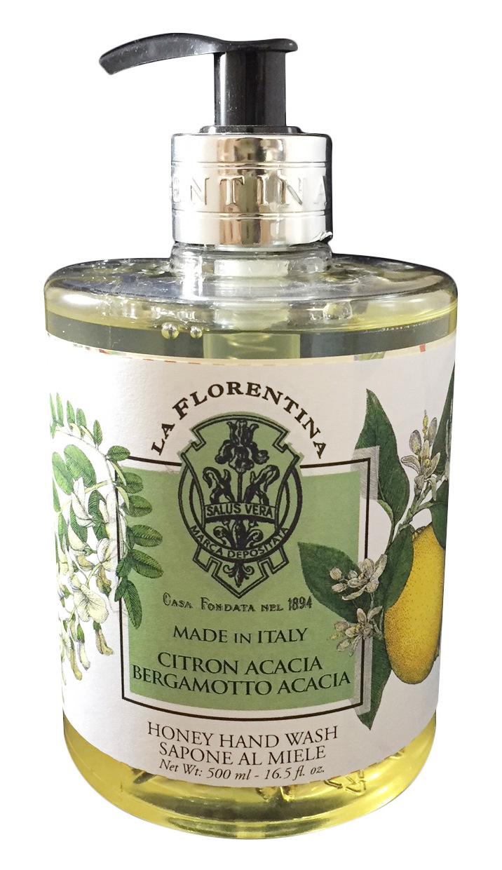 Купить LA FLORENTINA Мыло натуральное жидкое, акация и цитрон / Acacia & Citron 500 мл