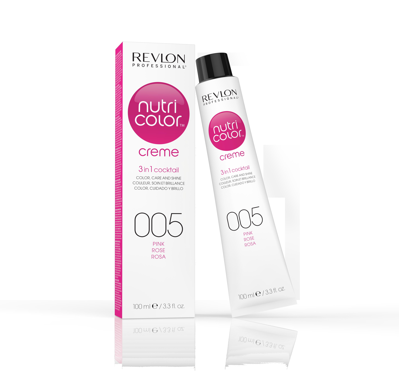 REVLON Professional 005 краска 3 в 1 для волос, розовый / NUTRI COLOR CREME 100 мл