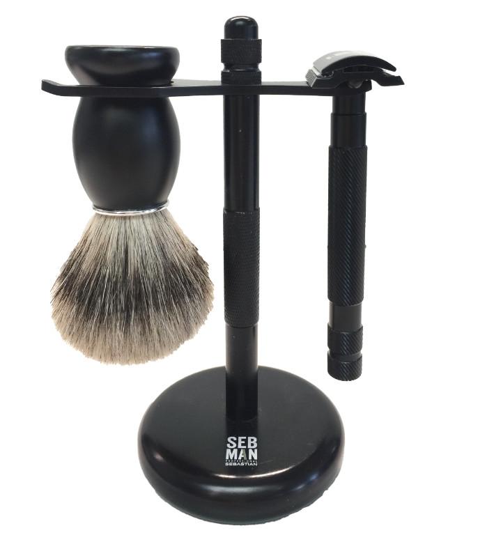 SEB MAN Набор для бритья (помазок, станок, подставка) SEB MAN от Галерея Косметики