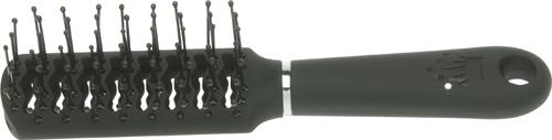 DEWAL BEAUTY Расческа Шарм продувная с пластиковым штифтом, прямоугольная мини 18 см
